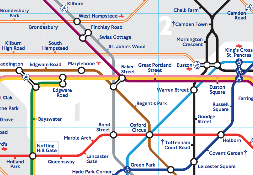 Large Tube Map Of London.The Tube Map Mapping London
