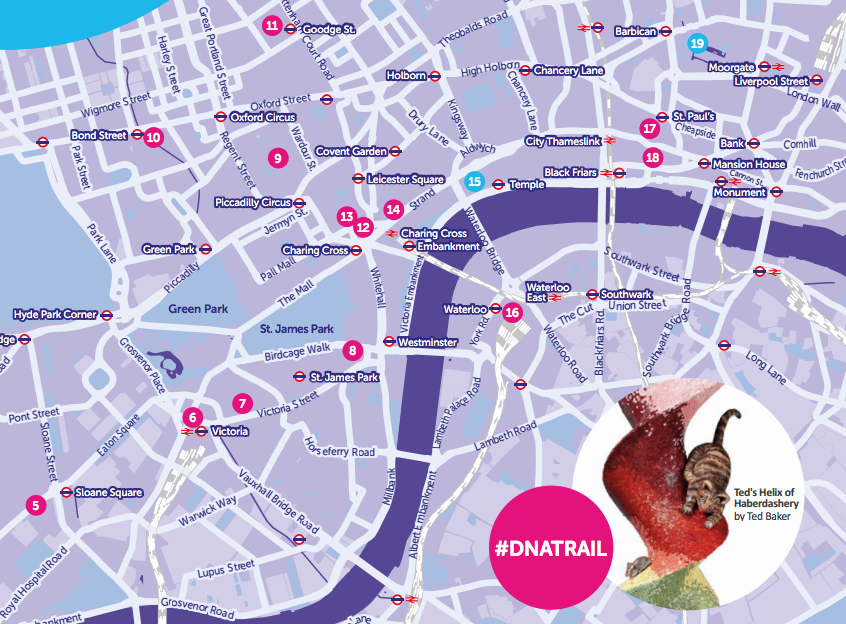 DNA Trail | Mapping London on
