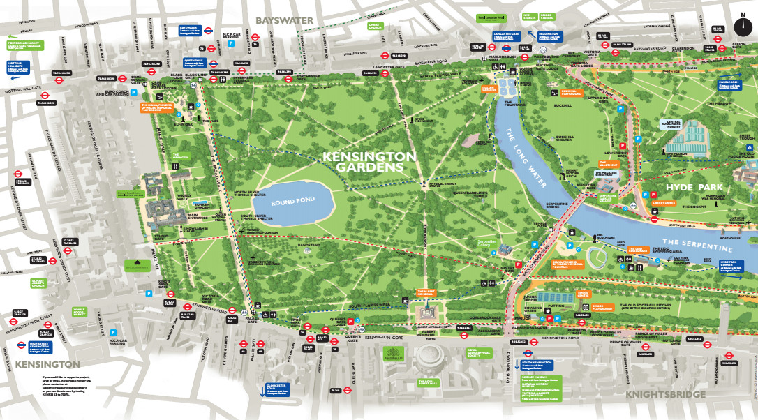 Kensington Gardens Map Public Gardens | Mapping London