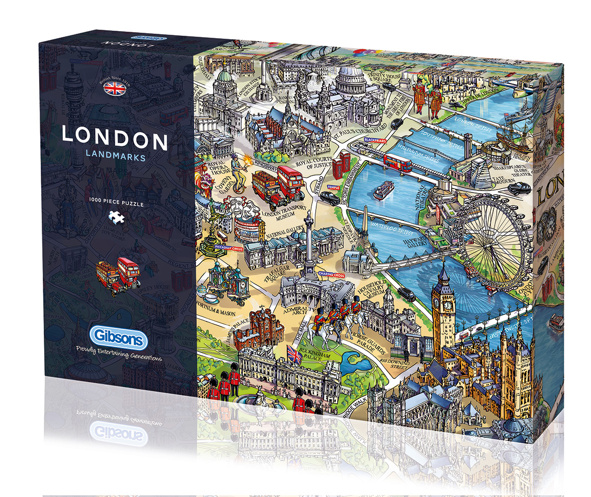 London Landmarks Jigsaw Puzzle – Map of London Landmarks