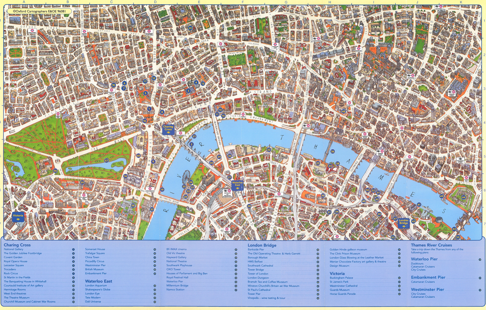 Victorian London in Incredible Detail – Map Of Central London With Tourist Attractions