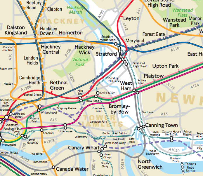 London Connections A Geographic Tube Map Mapping London