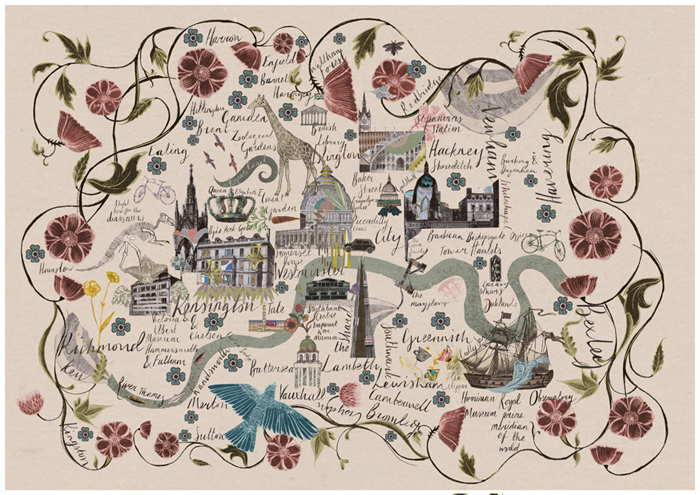 A Flowery London Map  Mapping London