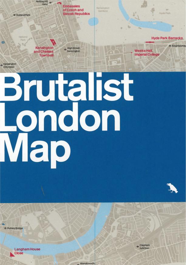 Brutalist London Map Mapping London - London map 1945
