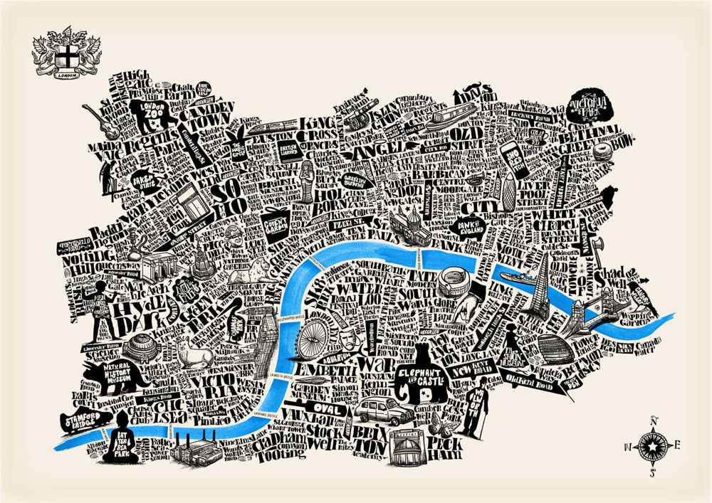 Typographical Map of London