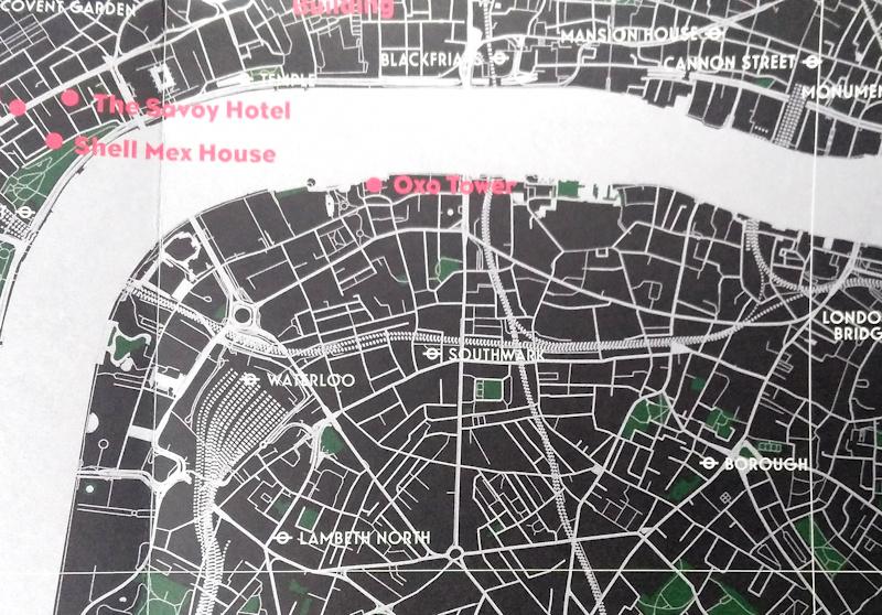 Art Deco London Map Mapping London - London map 1945
