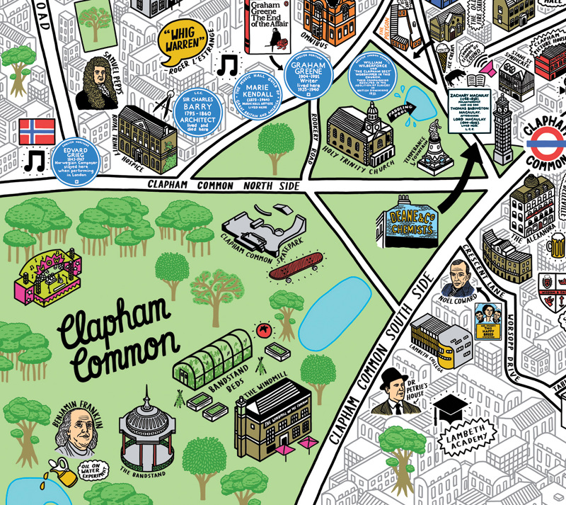 Clapham Common Map Clapham Culture Map   Mapping London