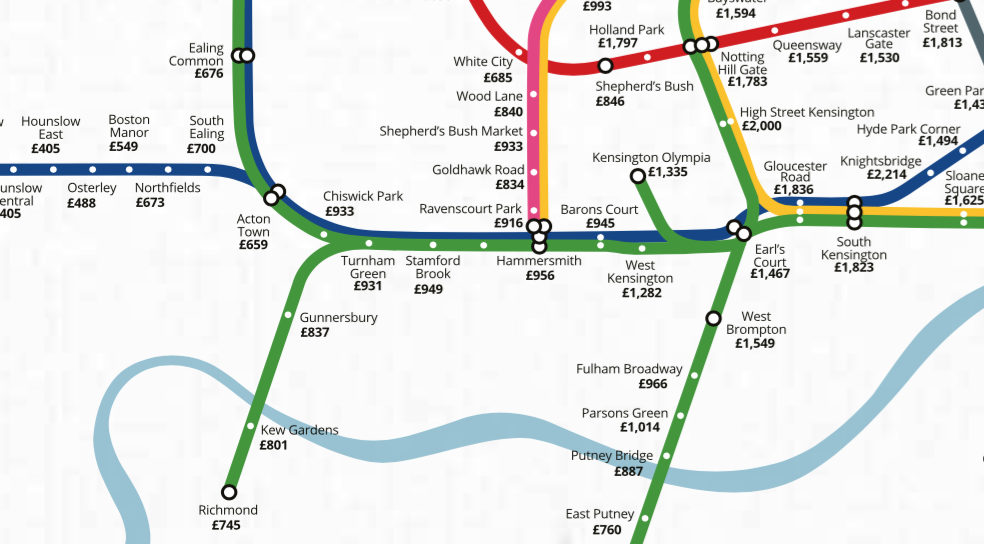 Square Deal A Tube Map Of House Prices Mapping London