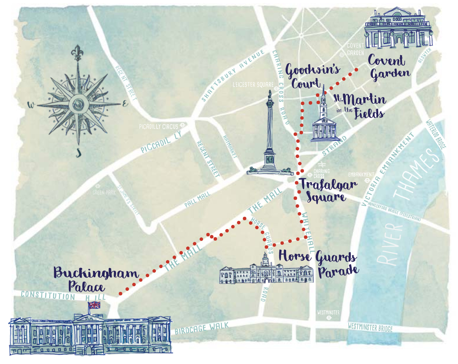 The Mall London Map.Lamplighters Map Mapping London