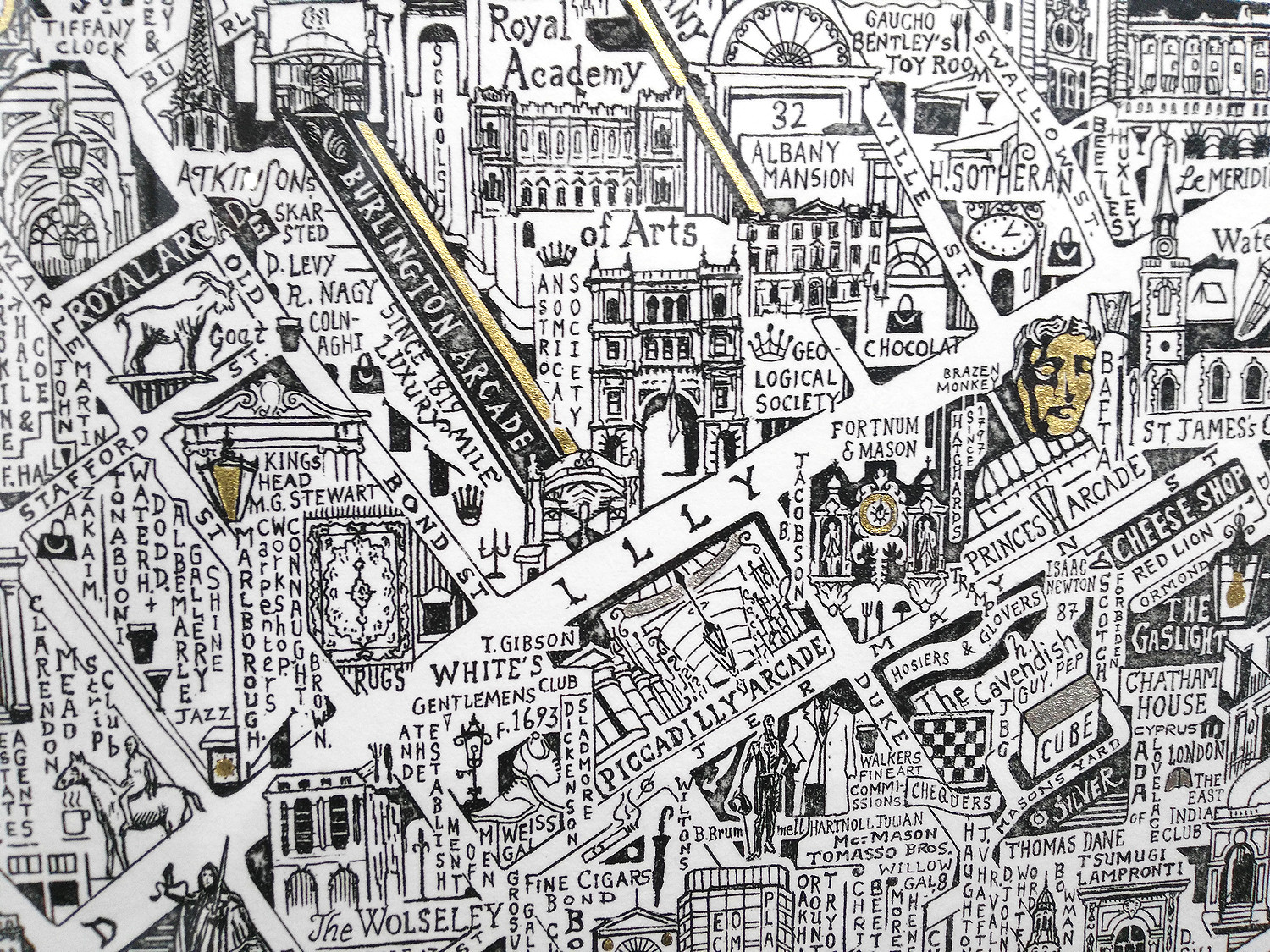Map Over London.Mayfair St James S Mapping London