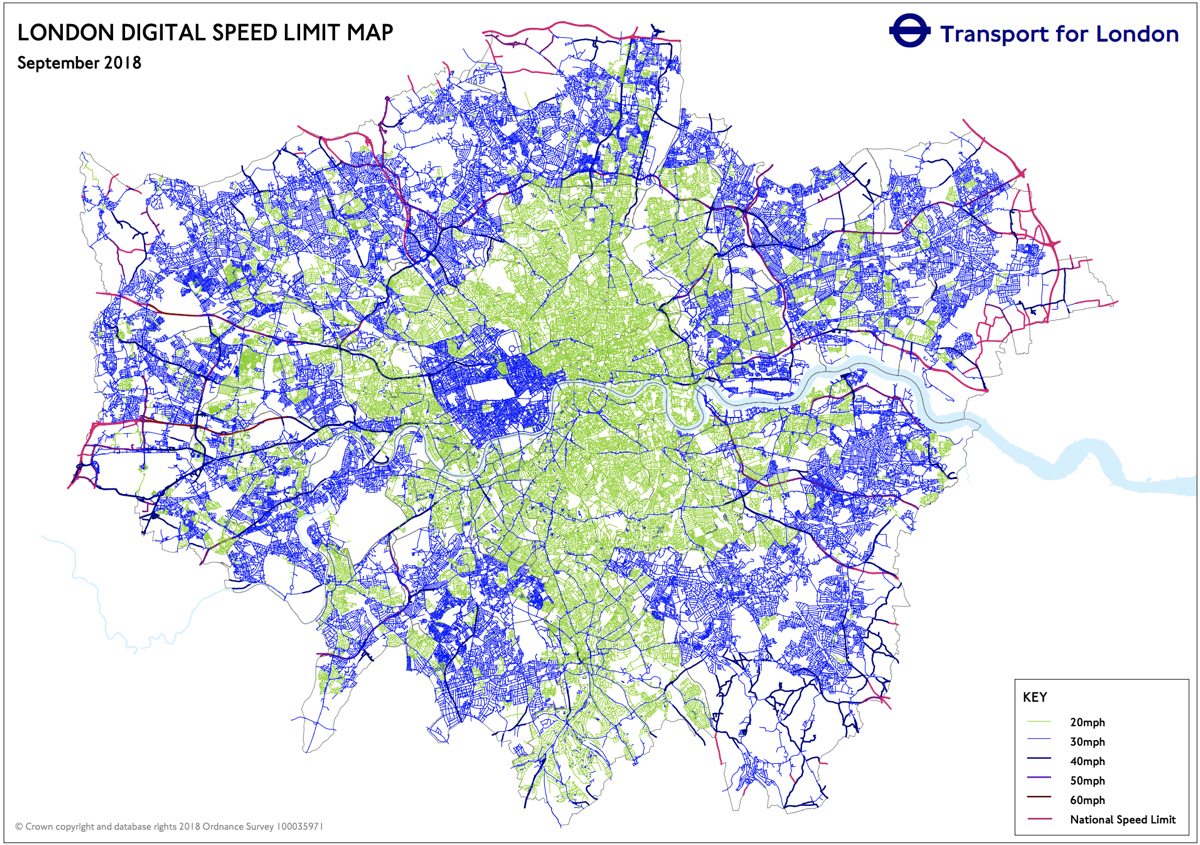 Speed Limit Map Uk Speed Limit Map | Mapping London