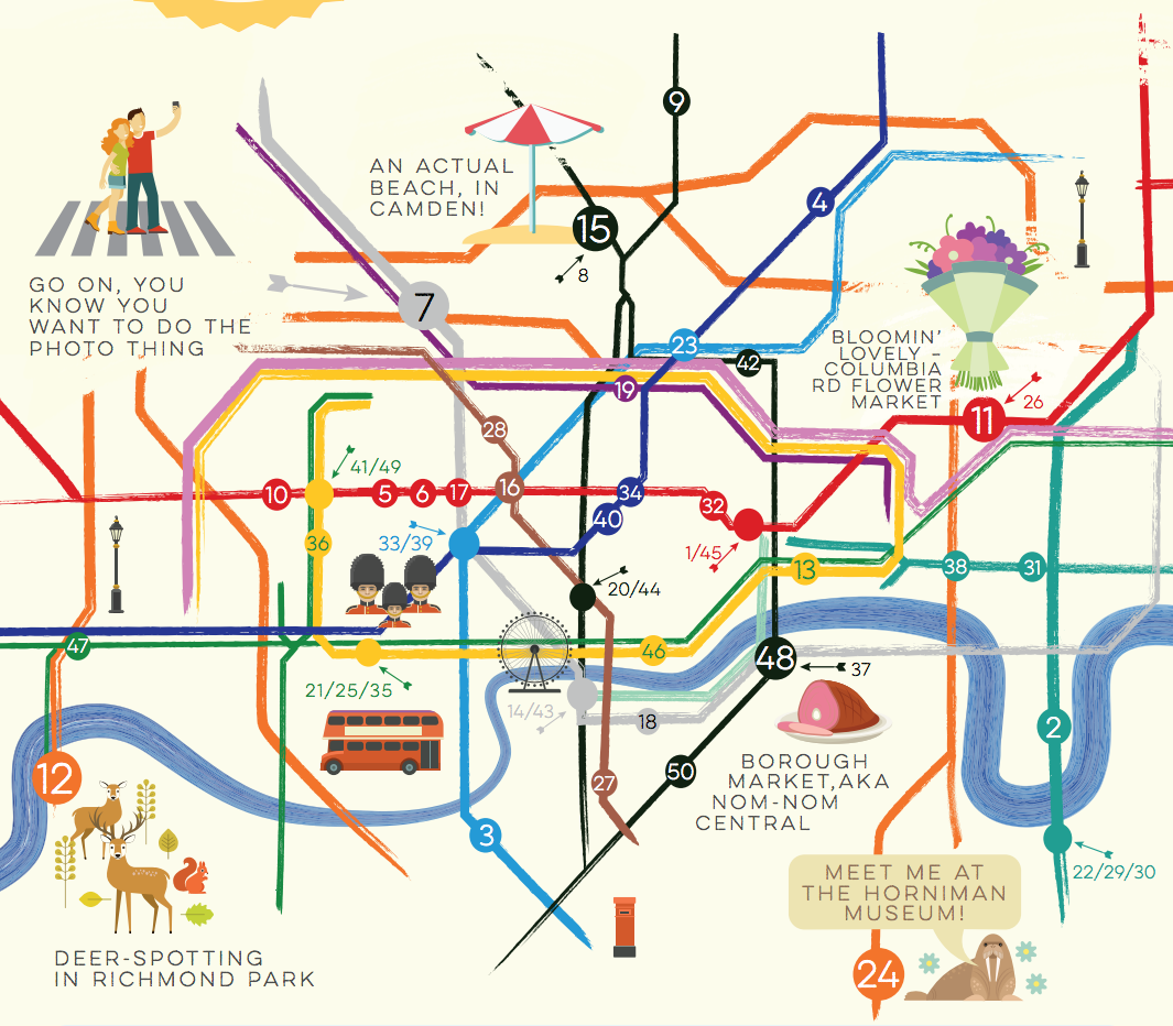 London Free Map.Travelzoo S Summer Map Of Free Things Mapping London