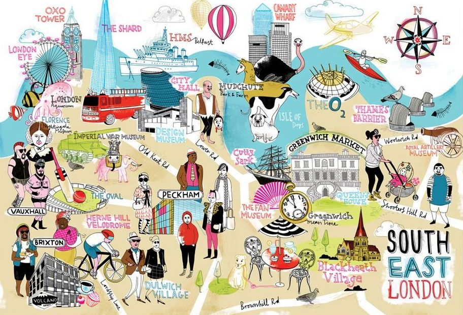 Map Se London.Local Maps Mapping London