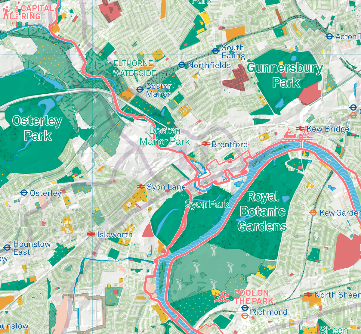 Map Over London.London National Park City Map Mapping London