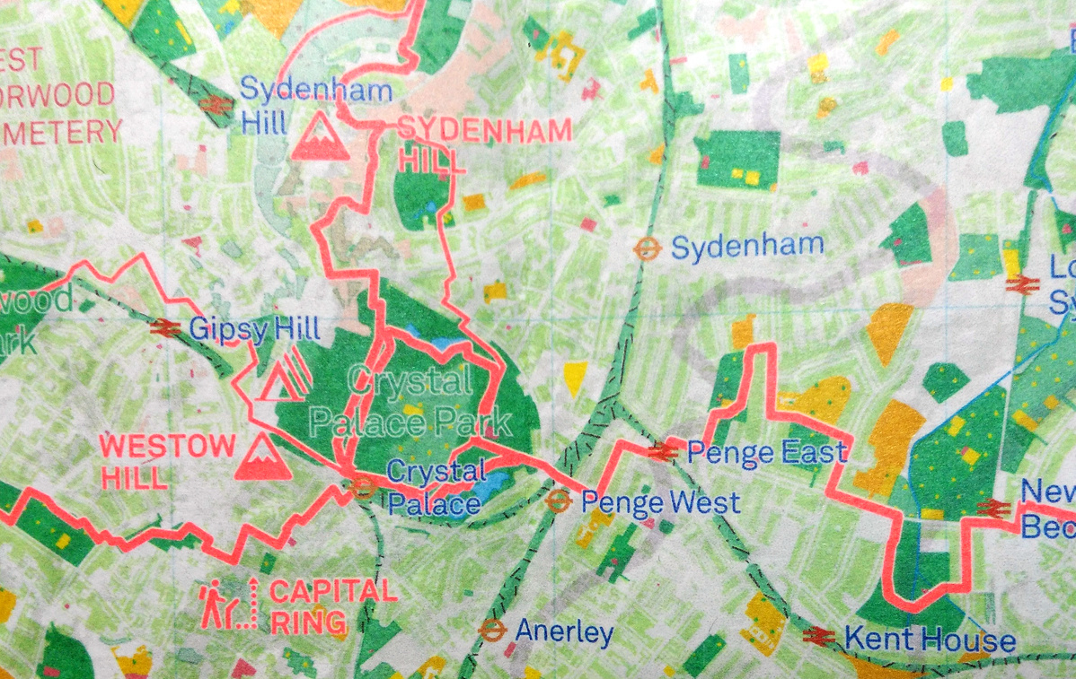Map Of Landmarks In London.London National Park City Map Mapping London