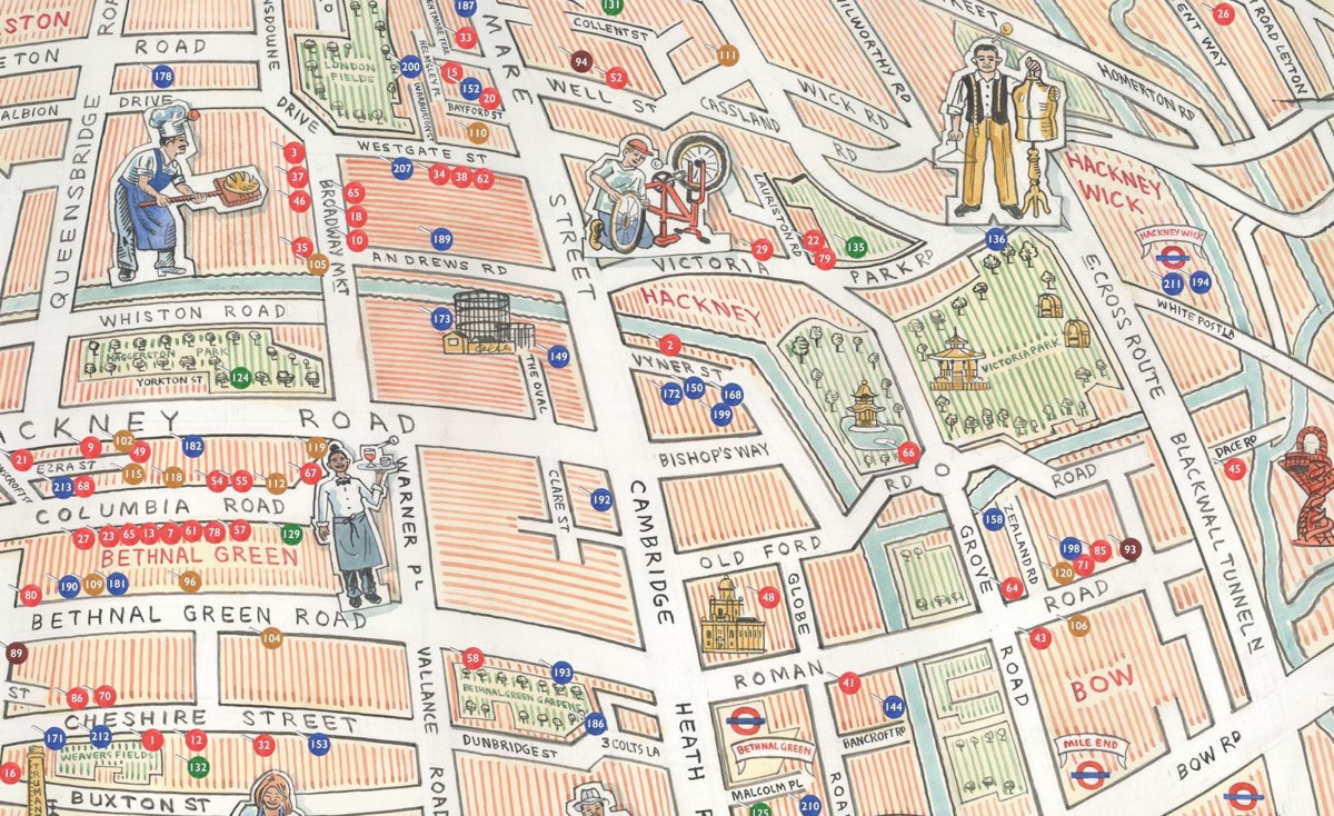East London On Map.East End Independents Mapping London