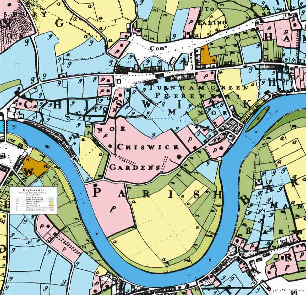 Map Around London.Chiswick Timeline Mapping London