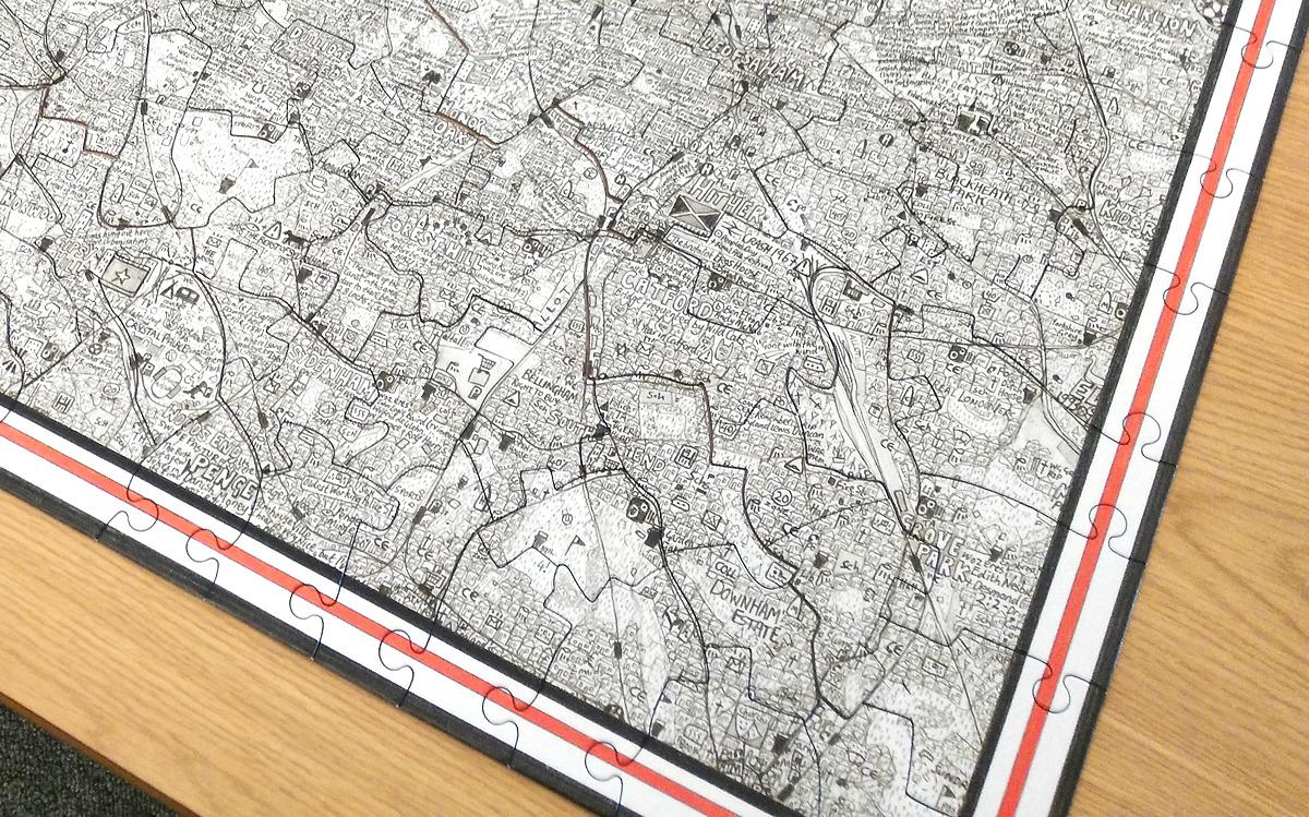 Map Of Uk Jigsaw.London Mapped Jigsaw Puzzle Mapping London