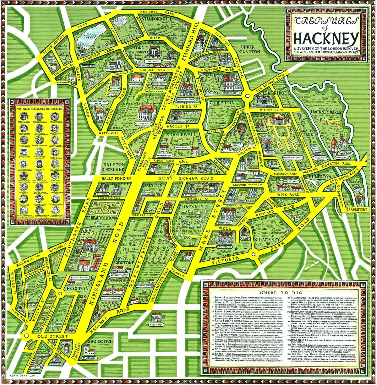 Full Map Of London.Treasures Of Hackney Mapping London
