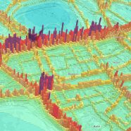 3D Map of Nitrogen Dioxide Pollution