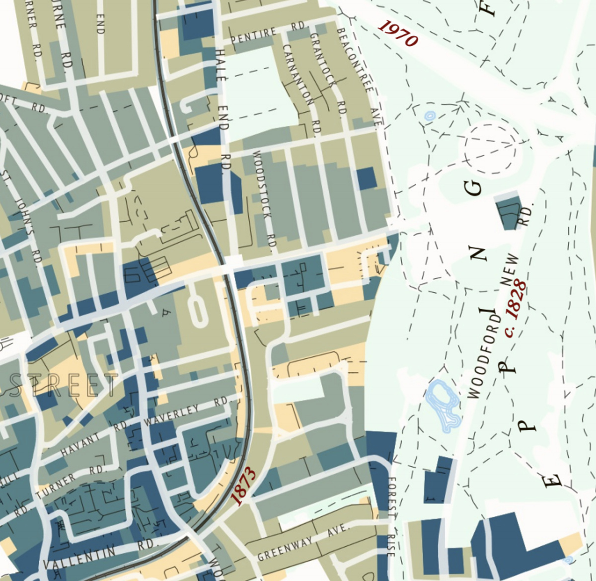 A Chronological Map of Walthamstow