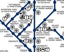 London Suburban Lines 1939 (Modern Reproduction)