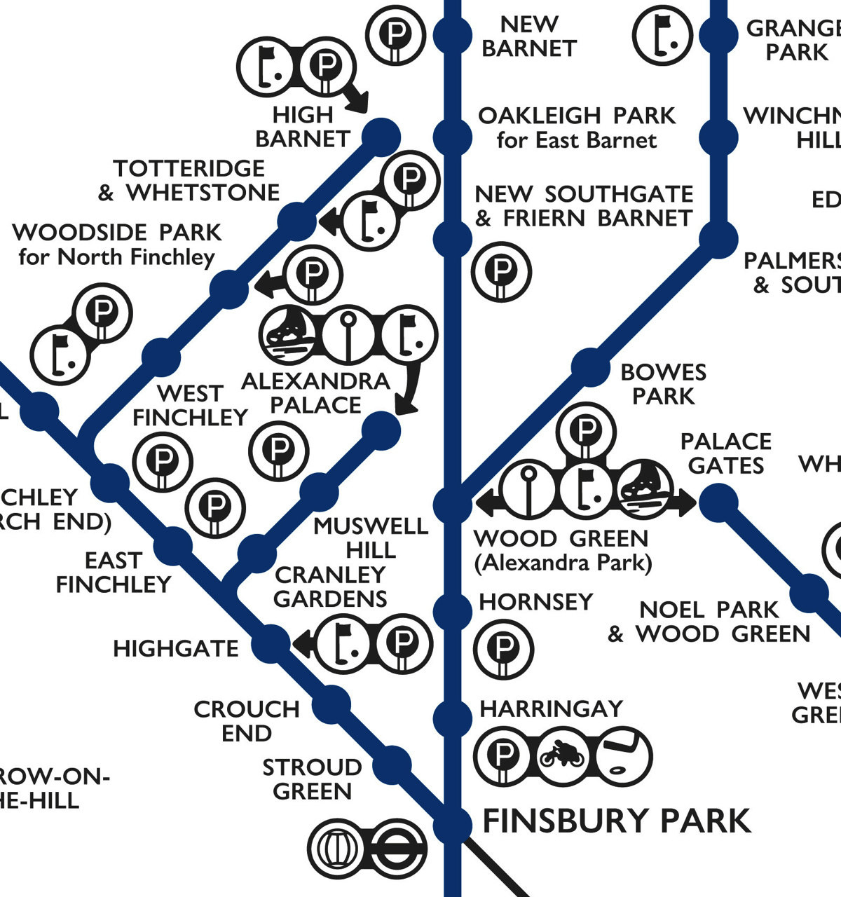 London Suburban Lines 1939 (Modern Reproduction)