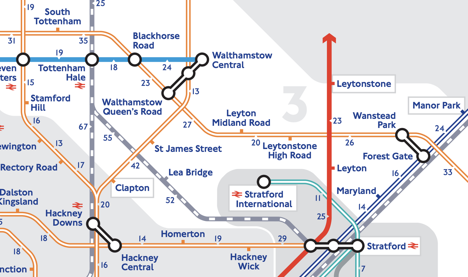 Walking Tube Map - Extended