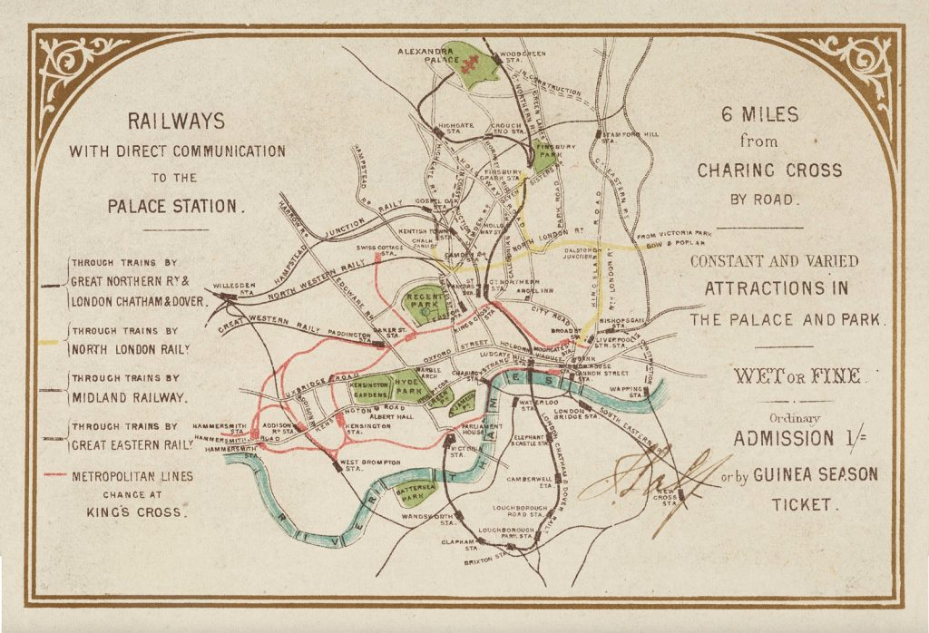 London 1600 Map.Alexandra Palace Guinea Season Ticket Mapping London