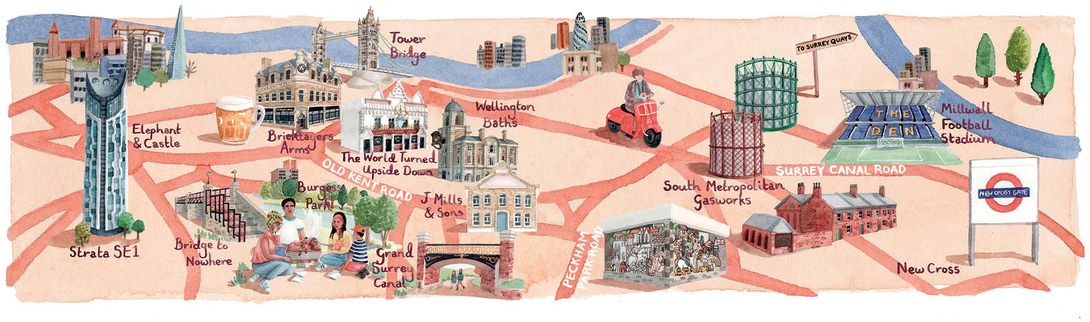 Illustrated Maps of SE London