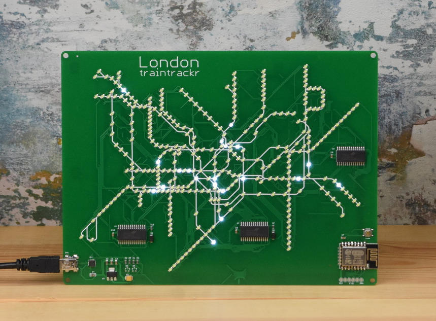 Tube Circuit Board with Live Train Locations